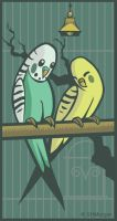 Budgies by chasmosaur