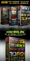 55 Photoshop Styles BUNDLE by survivorcz