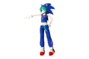 [MMD Photo] Sonic Miku by GrandDibu