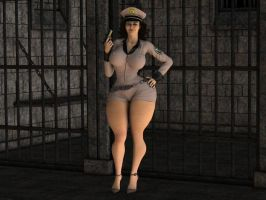 Ivonne the naughty police woman by THEFOXXX3D