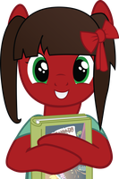 Amelia loves her new book by TheAmazingNoodle