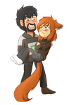 Commission:  Ruvin And Sana by foxhat94