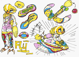 Toy Chica Fly by sheezy93