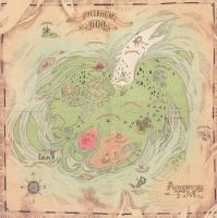 The Land of Ooo map by Inu-Josha