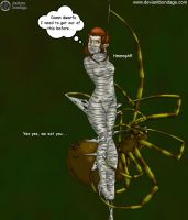 Tauriel Captured in Spiders Web Bondage by PGLinda