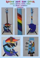 Rainbow Dash Bass Guitar by Phoenix0117