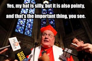 Cardinal Dolan's Pointy Hat by Vivienne-Mercier