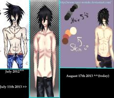 Timeline of drawing shirtless males XD by Toxic-Weirdo