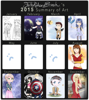 Art Summary 2015! by FallenRichardBrook