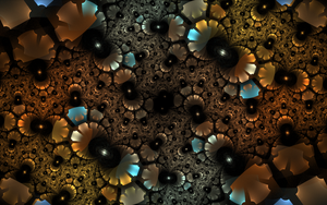 bluebrown metallic pattern by Andrea1981G