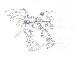 Metallix Punching Sonic by Enigmatic-Andy