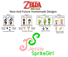 Homemade TLOZ Sprites Main Characters by SpriteGirl
