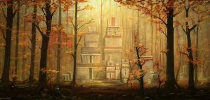 Forest village by JJcanvas