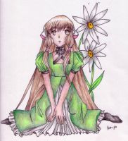 Chii with Flowers by nezumish