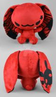 Red Punk Bunny Plush by SewDesuNe