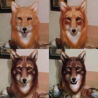Red Wolf Mask Coloration Progression by netherdenstudio