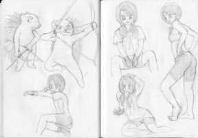 Videl sketches 6 by dougurasu