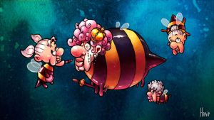 Bestiary:7 - Queen Granny Bee by happip