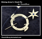 Commission: Shining Armor's Cloak Pin by SilverSlinger