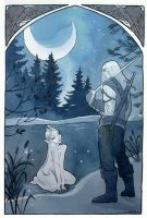 Moonlit Encounter by Maryanneleslie