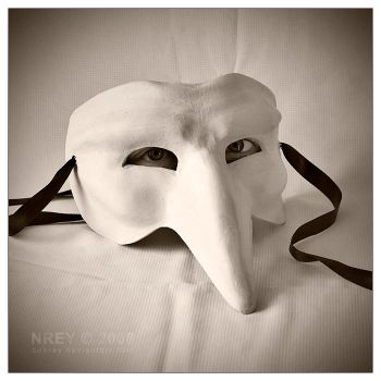 Live mask white by adnrey