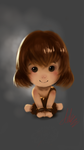 Galaxy Note II Sketchbook Pro doodle - Chibi Ratna by Adeshark
