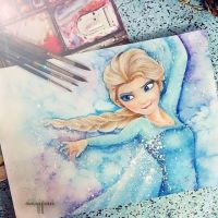 Elsa from Frozen by ochaocha