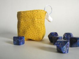 Tiny Yellow Dice Bag by mousch
