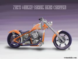 2008 Harley Shovel Head Chopped by Zac by steverino365