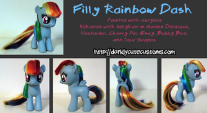 Filly Rainbow Dash by Kanamai