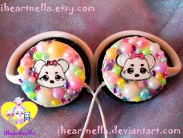 Mini Bubble Nene headphones by Iheartnella