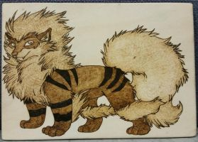 Woodburning - Gift for LukeTheRipper - Arcanine by Stepher17