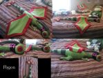 Sleeping Female Flygon Plush by TheAmberMoon