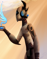 ArtTrade with Schizobot by Al-Cube51