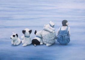My Dear Girl And Dogs by Guangtung