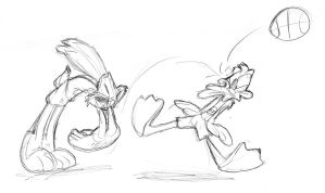 Space Jam Sketch by JoeyWaggoner