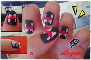 Nails art Markiplier by Luyepii