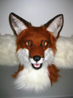 Red Fox Mask - Up for Auction! by MaewynShadowtail