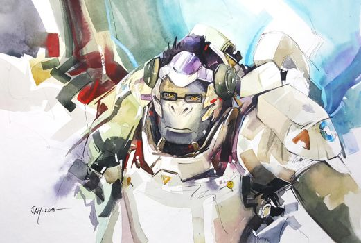 Overwatch - Winston by Abstractmusiq