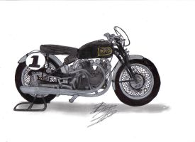 1952 Vincent Blk Lightning by Mister-Lou