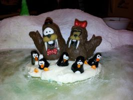 claymation christmas cake by toastles