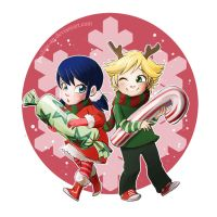 Marinette and Adrien by Paulina-AP
