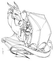 Dragon and Harem Bunny by Dustmeat