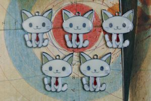 Tie Kitty Charms by MonsterBrandCrafts