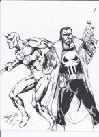 Punisher and Daredevil!! by craig1992