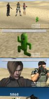 Leon vs Cactuar by redfield37