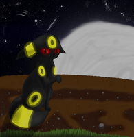 Umbreon Moon Remake by Skaterblog