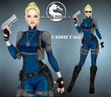 MKX Cassie Cage by LadyRaw90
