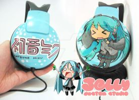 Hatsune Miku Headphone by PoppinCustomArt