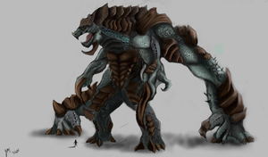 kaiju contest reptillis the lurker by NITEMARE-X